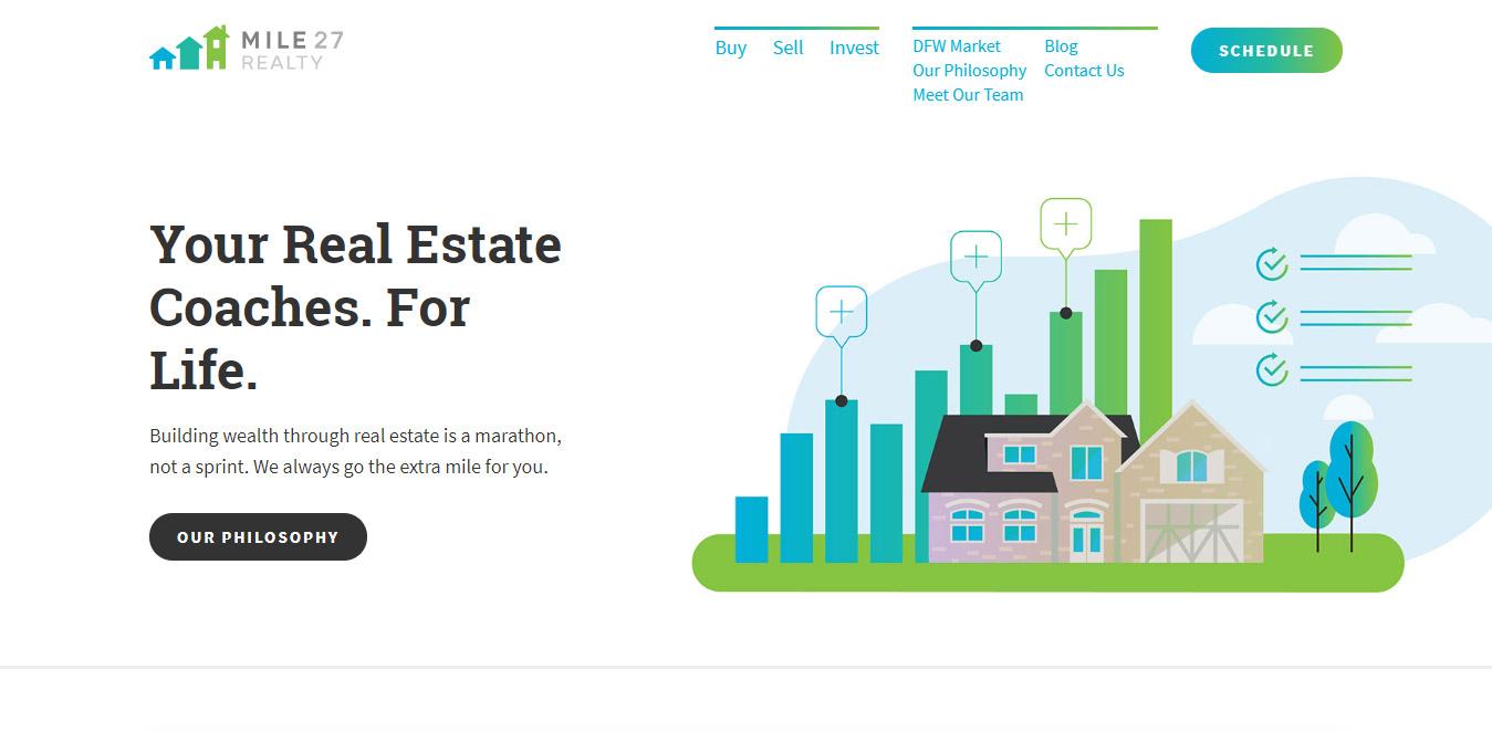 real estate web design inspiration