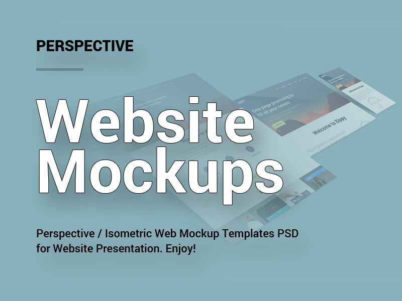 perspective website mockups templates psd
