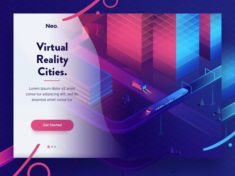 gradients in web design trend 2019