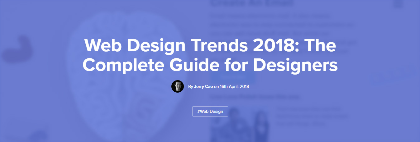 web design trends 2018