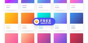 Free Sketch Gradient Color Palette Plugins