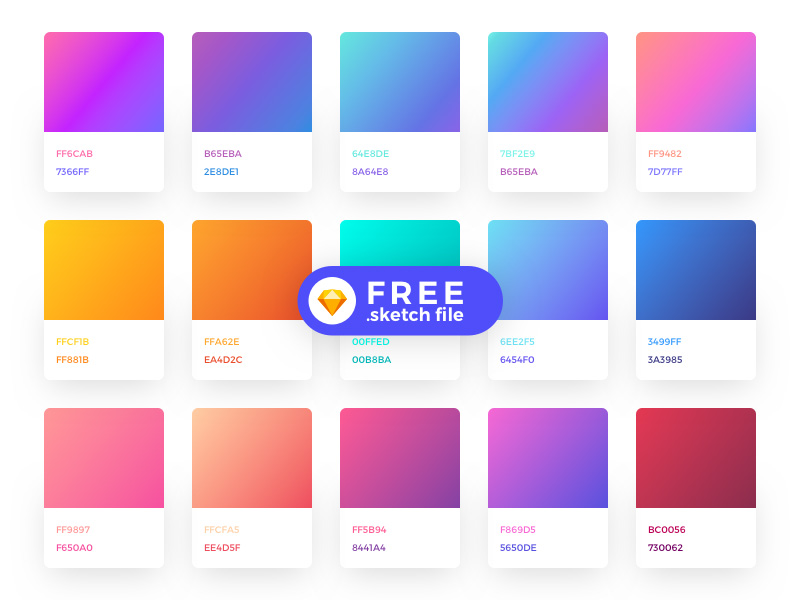 Free Sketch Gradient Color Palette Plugins