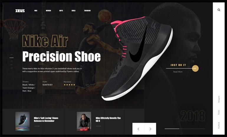 40 Stunning Shoe Store Web UI Design Concepts — Thehotskills