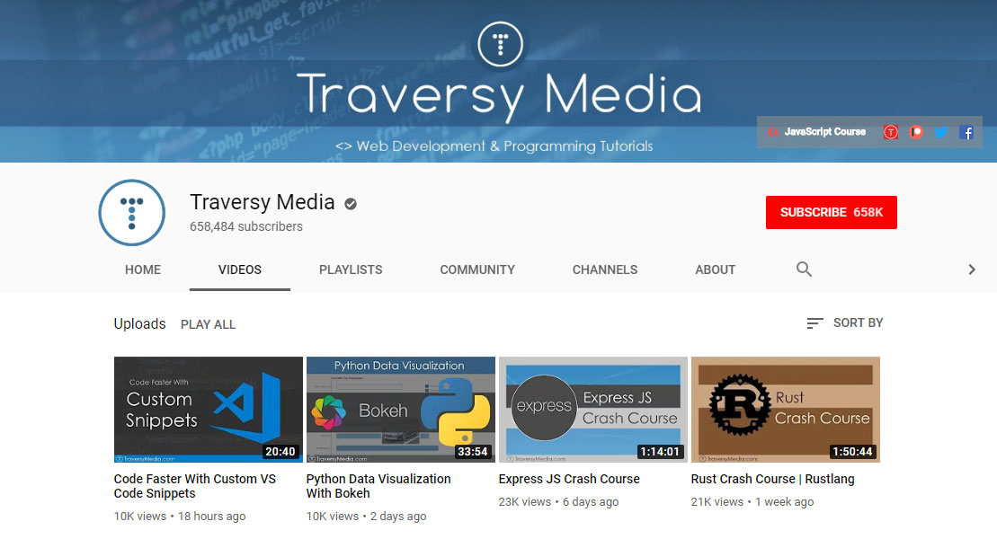 Traversy Media Learn Web Design and Development
