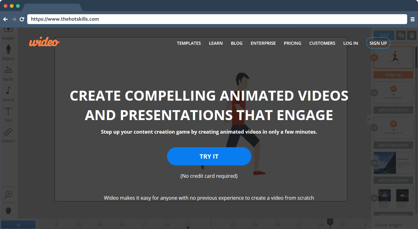 Wideo Best Video Animation Maker for Business