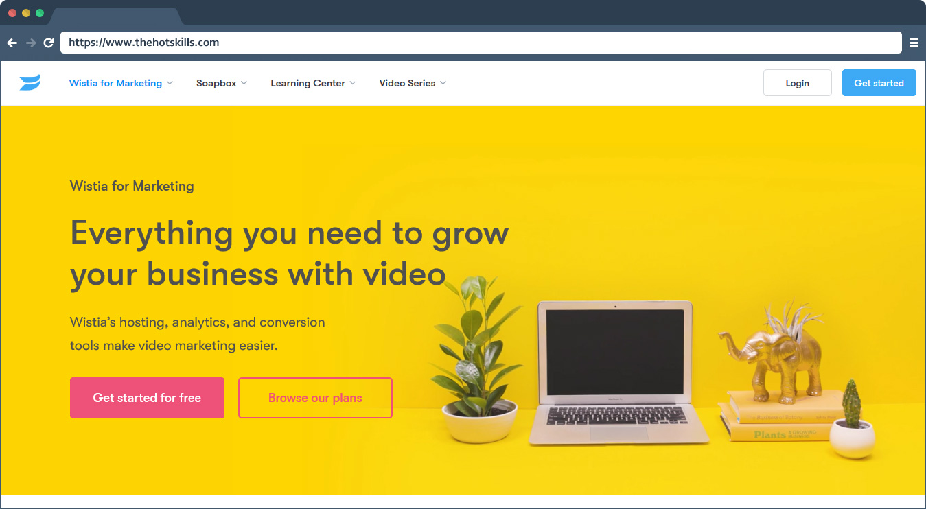 Wistia video marketing tool for business