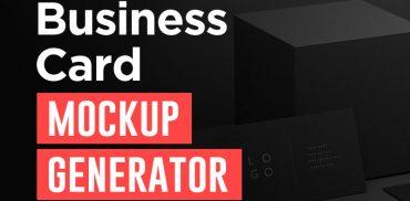 business card mockup generator online