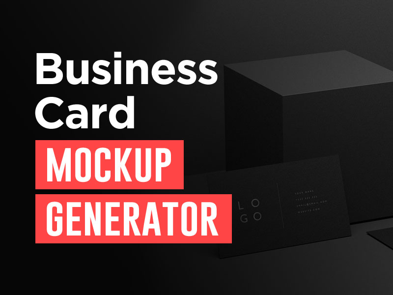 business card mockup generator online