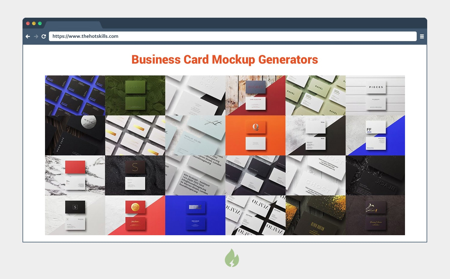 Business Card Mockup Generator
