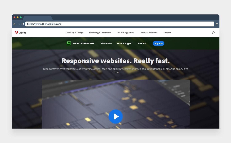 Adobe Dreamweaver web designing tool