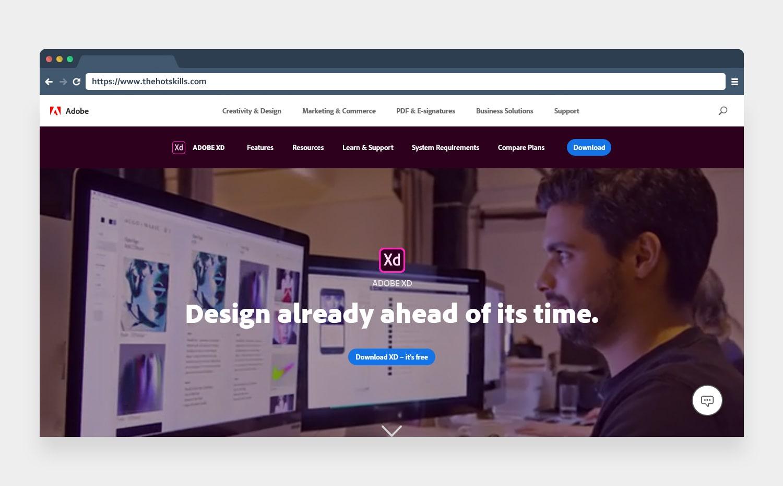 adobe xd ui ux designing tool