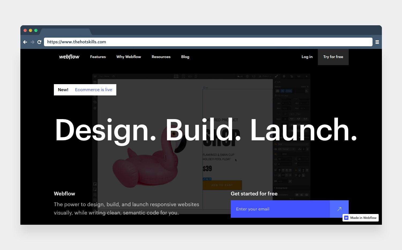 webflow responsive web design tool