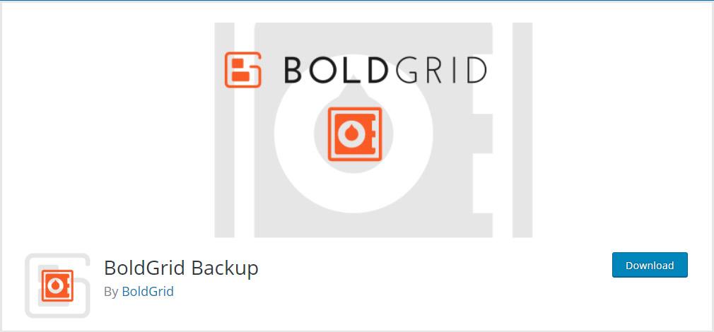BoldGrid WordPress Backup Plugin