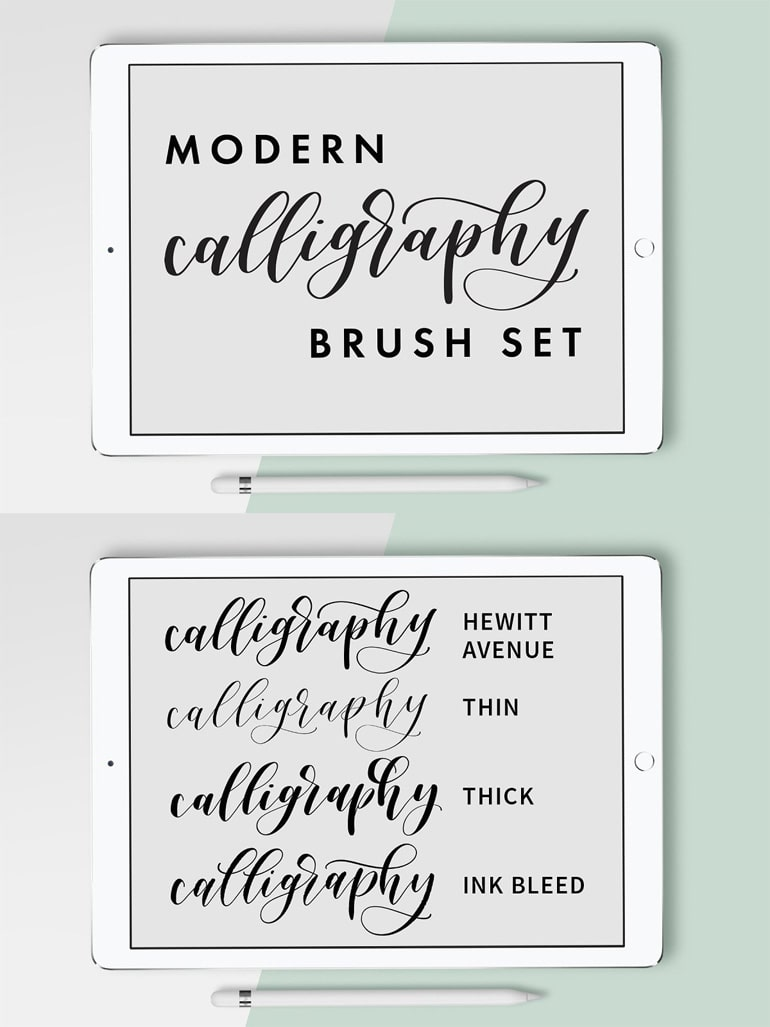 Calligraphy Procreate Brush Set
