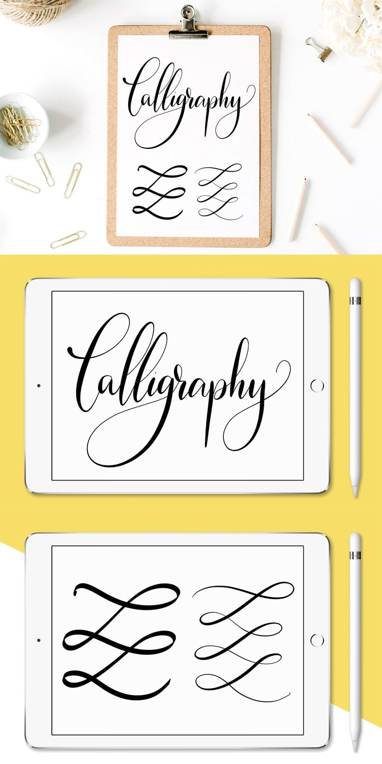 Procreate Calligraphy Brushes Nibs