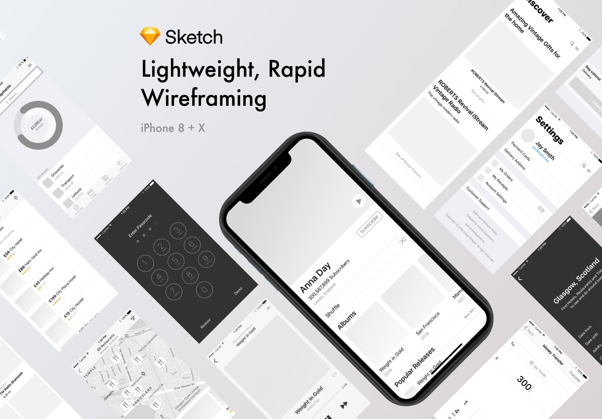 wireframe kits for sketch