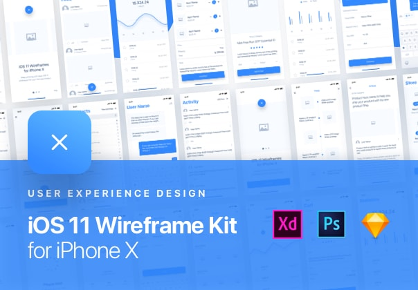 iOS 11 Wireframe Kit