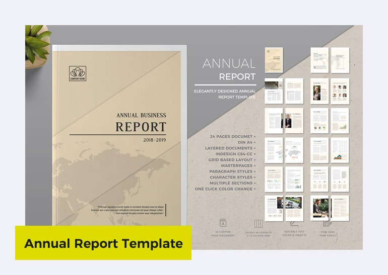 annual report templates free