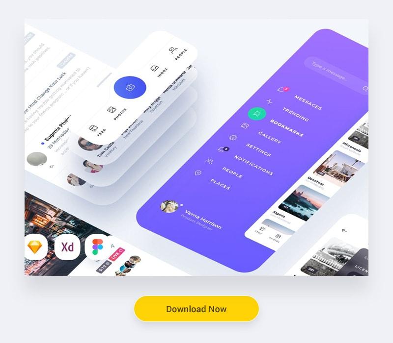 Mobile UI Kit for adobe xd