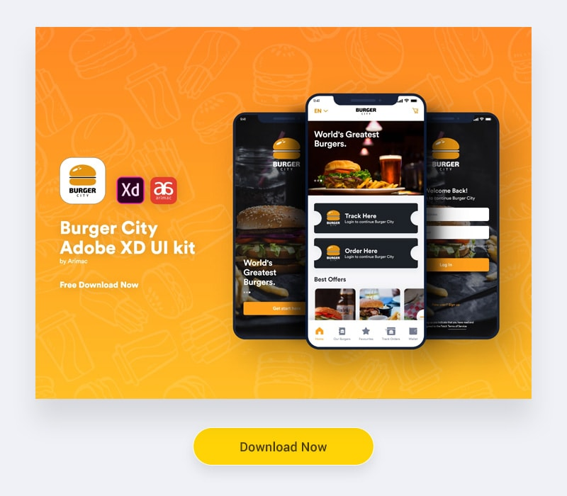 Free Adobe XD UI kit