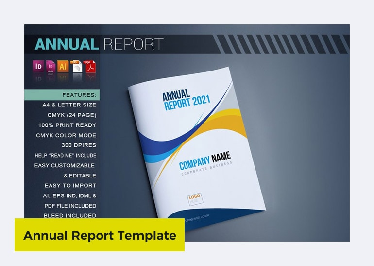 annual report template doc