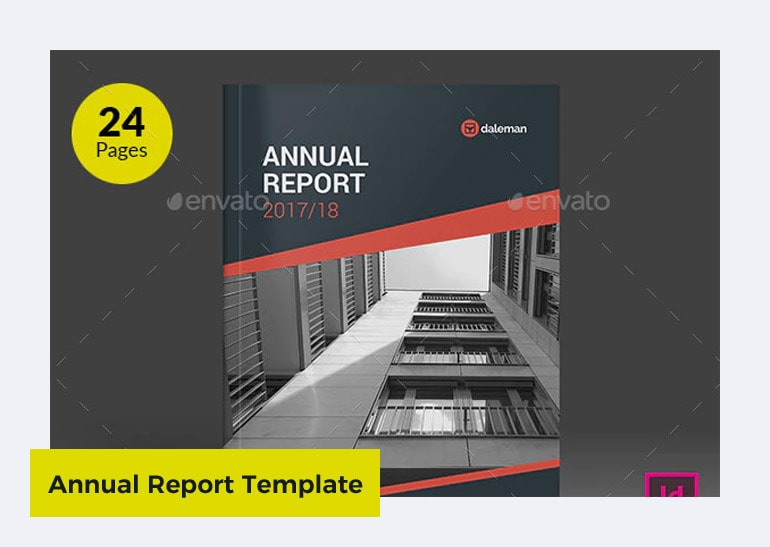 professional annual report template design