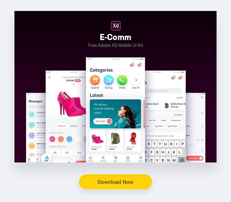 E-Comm Adobe XD UI Kit