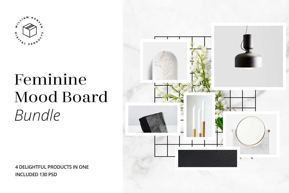 Feminine Mood Board Bundle
