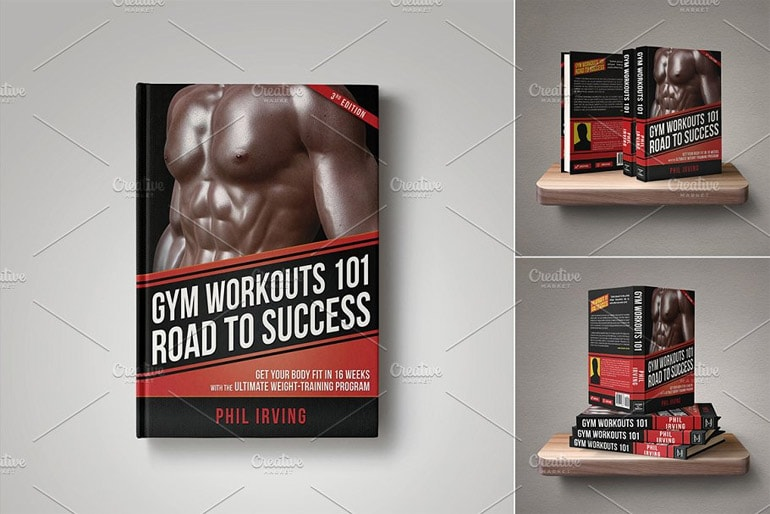Fitness Book Cover Template