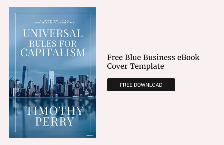 Free Blue Business eBook Cover Template