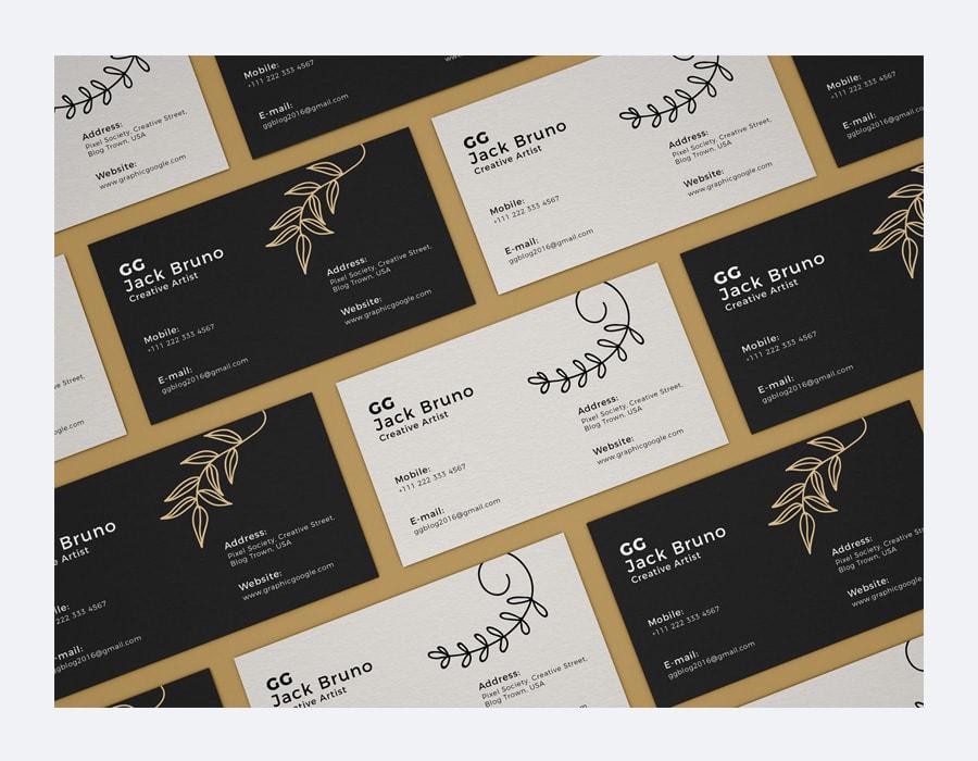 Free Branding Business Card Mockup PSD