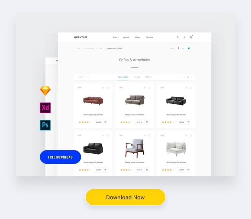 Free Commerce UI Kits