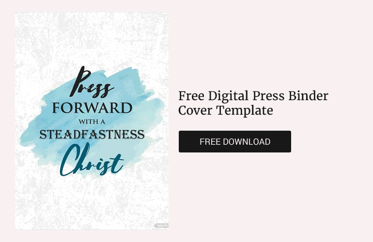 Free Digital Press Binder Cover Template