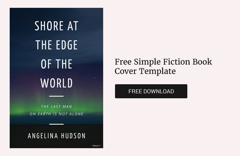 Free simple Fiction Book cover template