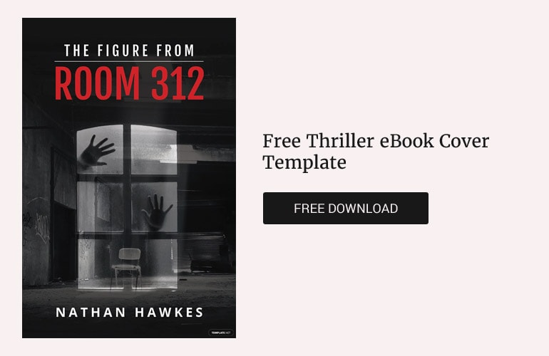 Free thriller book cover template