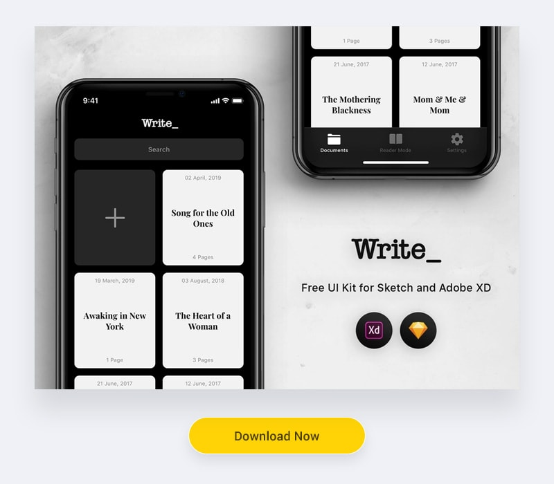 Free UI Kit for Adobe XD