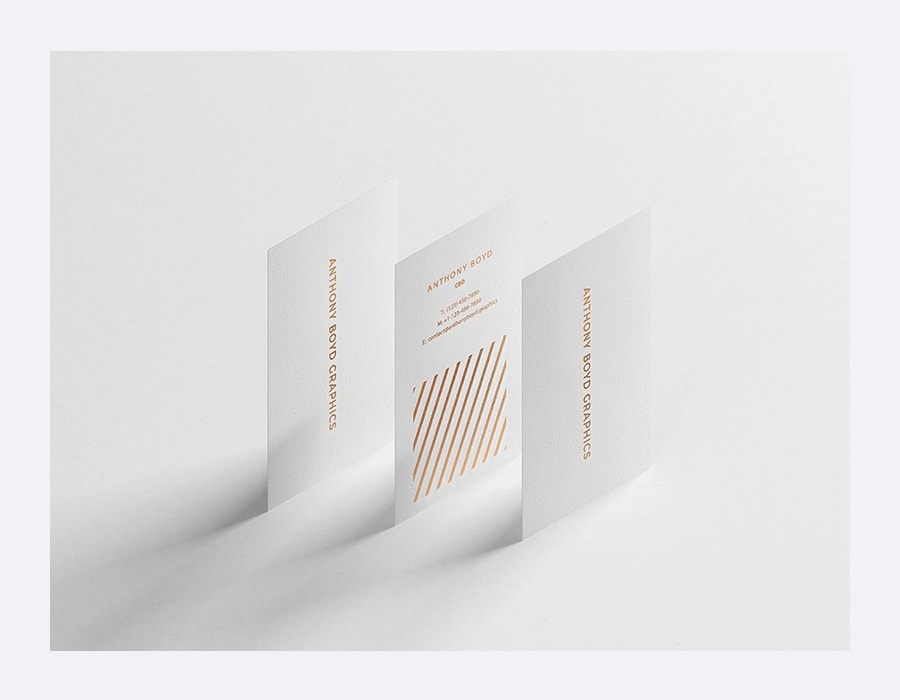 Modern Vertical Business Card Mockup PSD