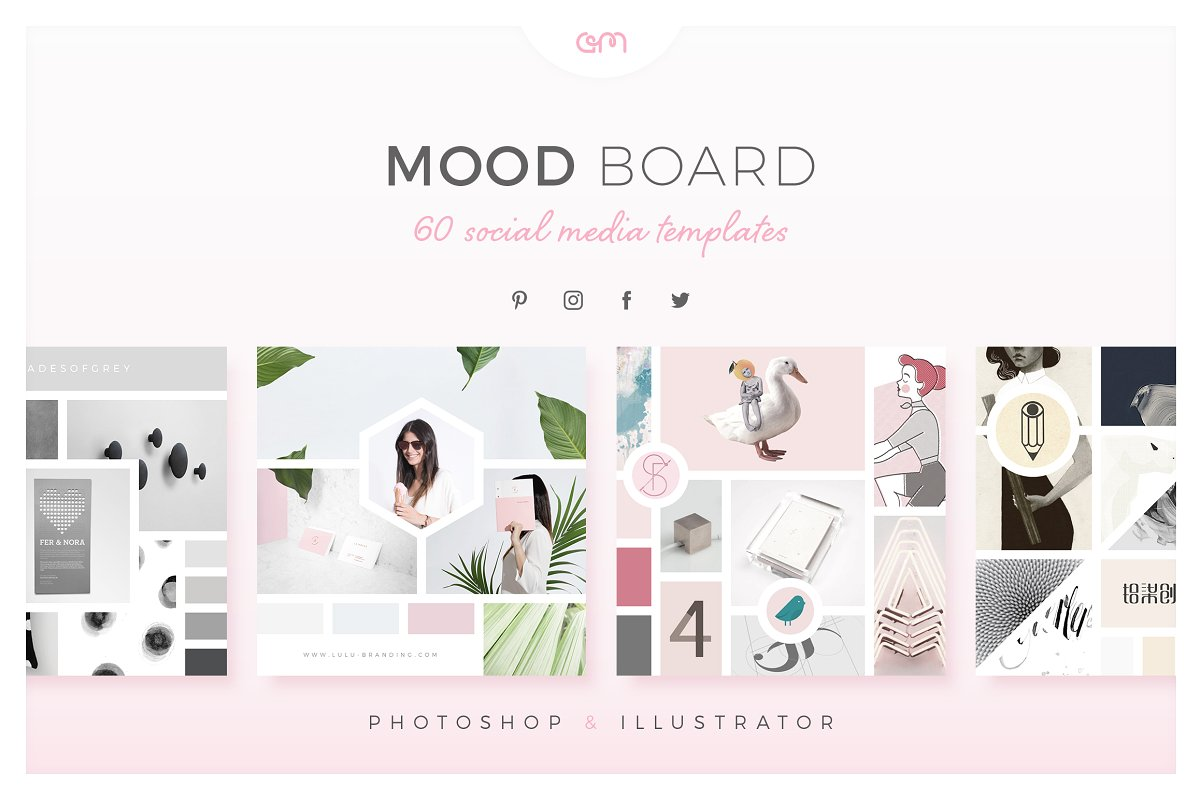 Mood Board Template Pack