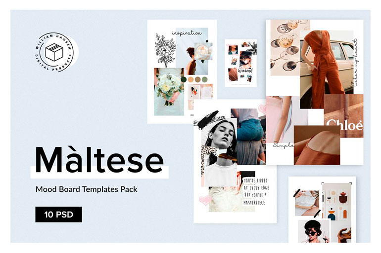 Mood Board Templates Pack