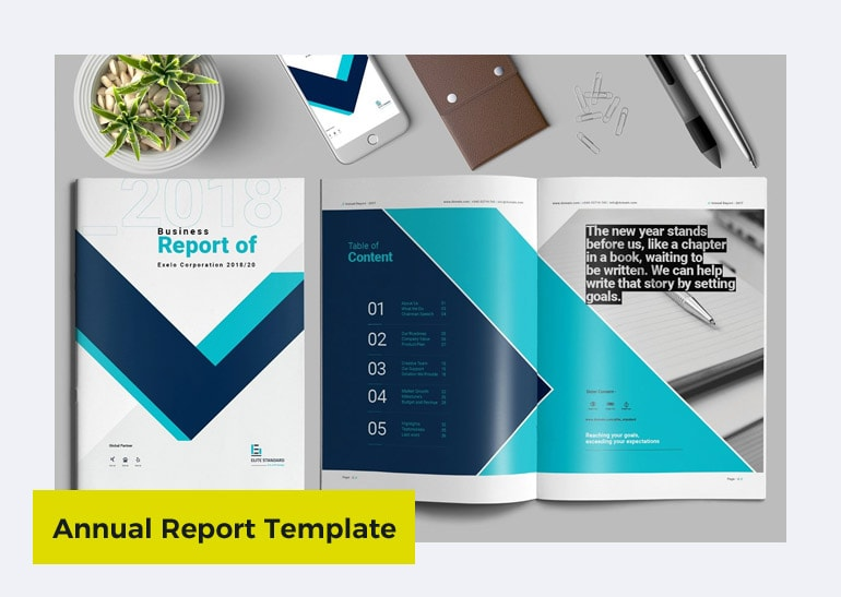 annual report template word