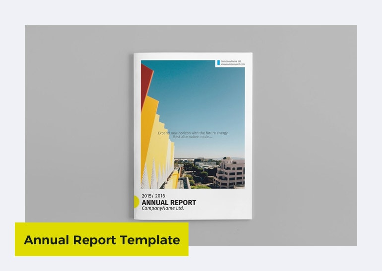annual report template for small business