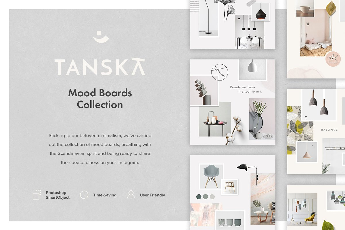 Mood Board Template Collection