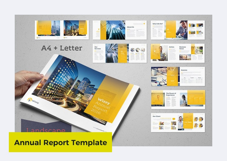 annual report template word free