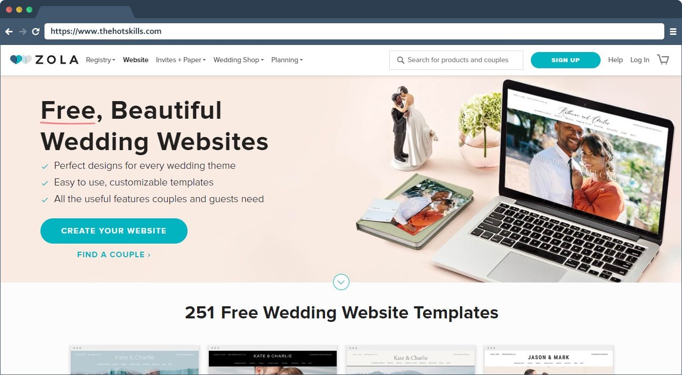 Find A Couple S Wedding Website.10 Best Free Wedding Website Builders Price Comparison Thehotskills