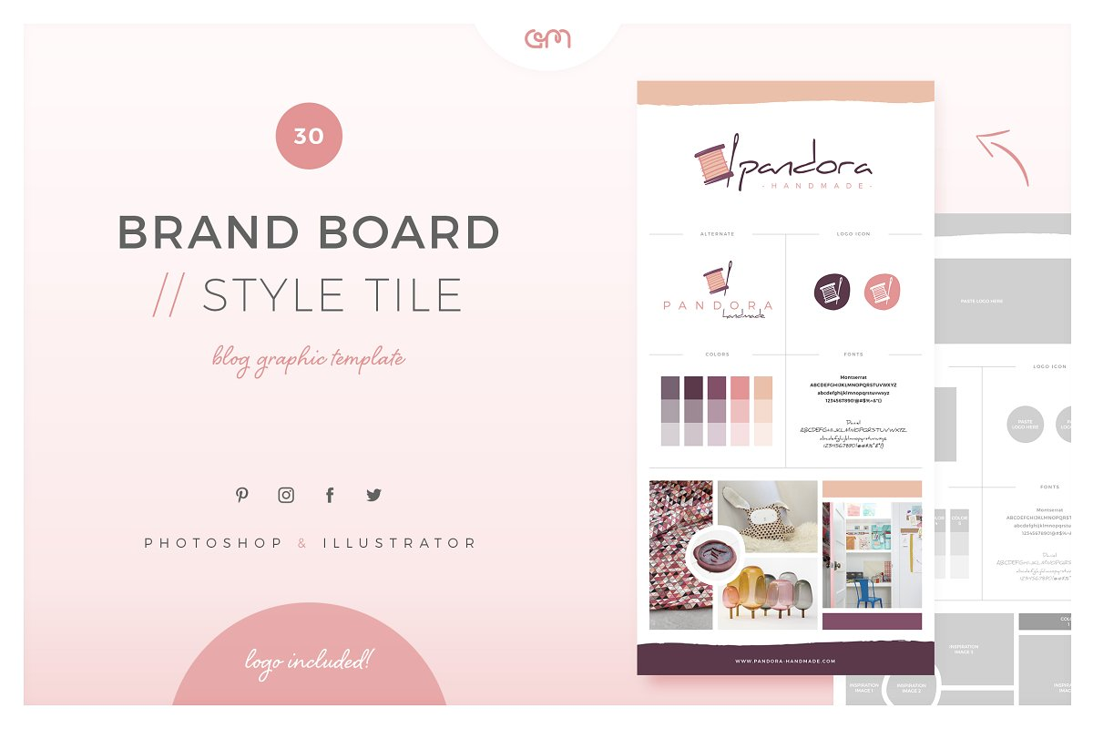 brand mood board template