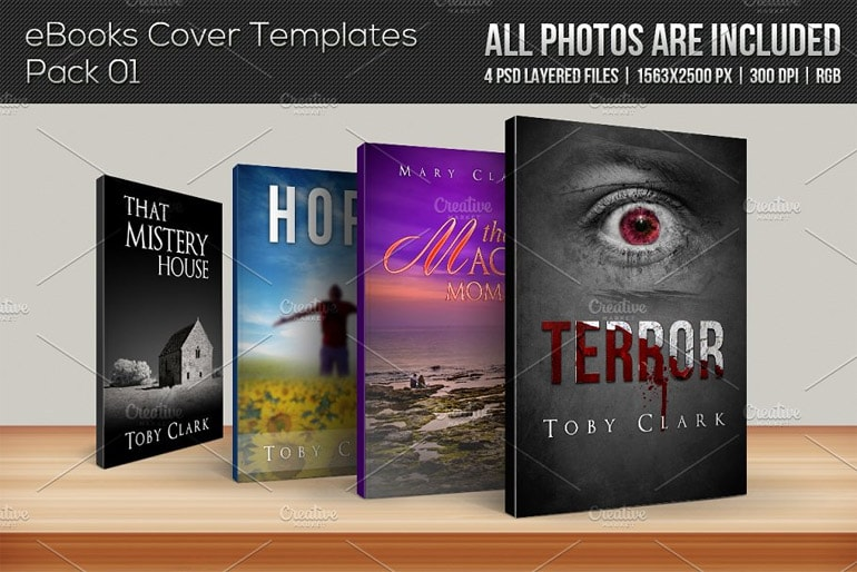 eBook cover templates pack
