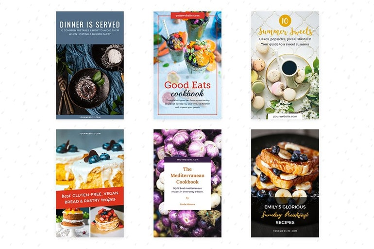 ebook Cover templates for Foodies