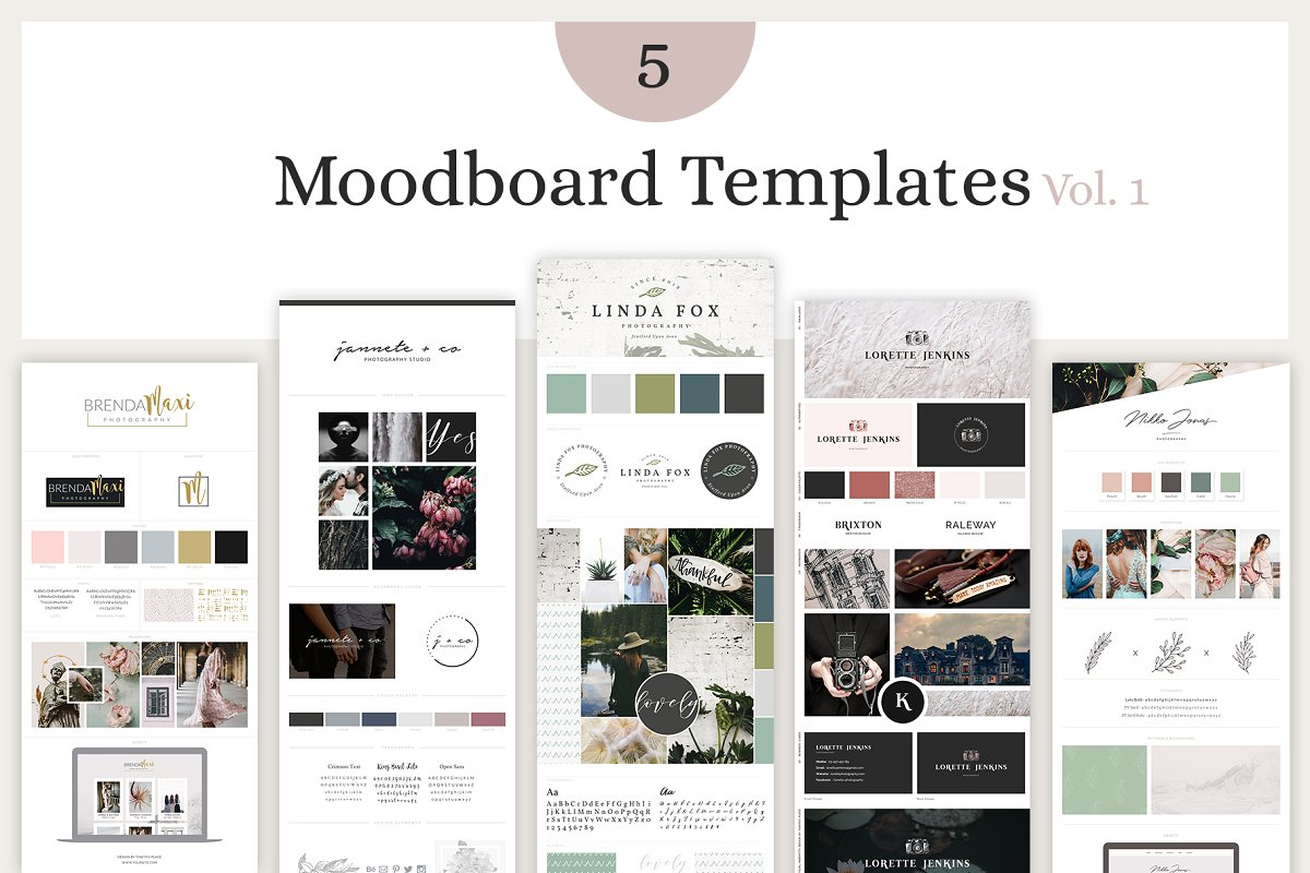 Mood Board Template Bundle