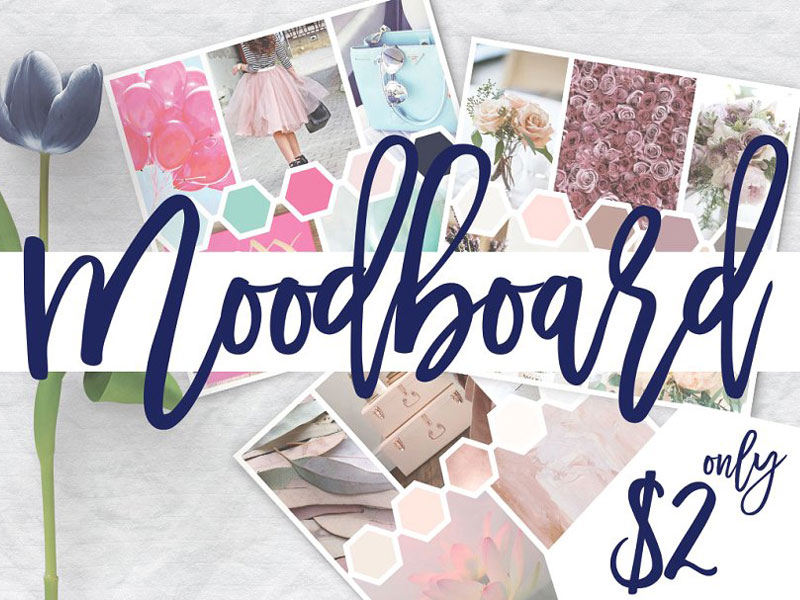 mood board template psd