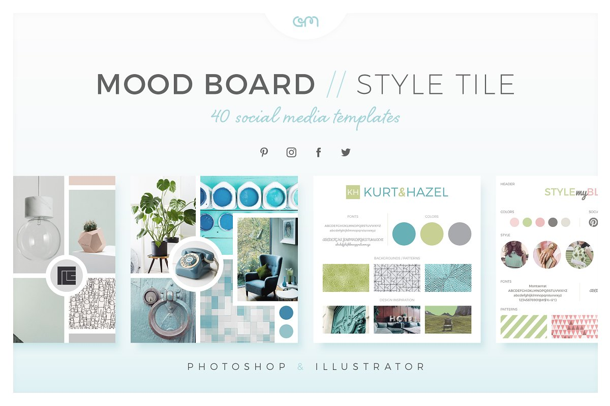 mood board templates psd